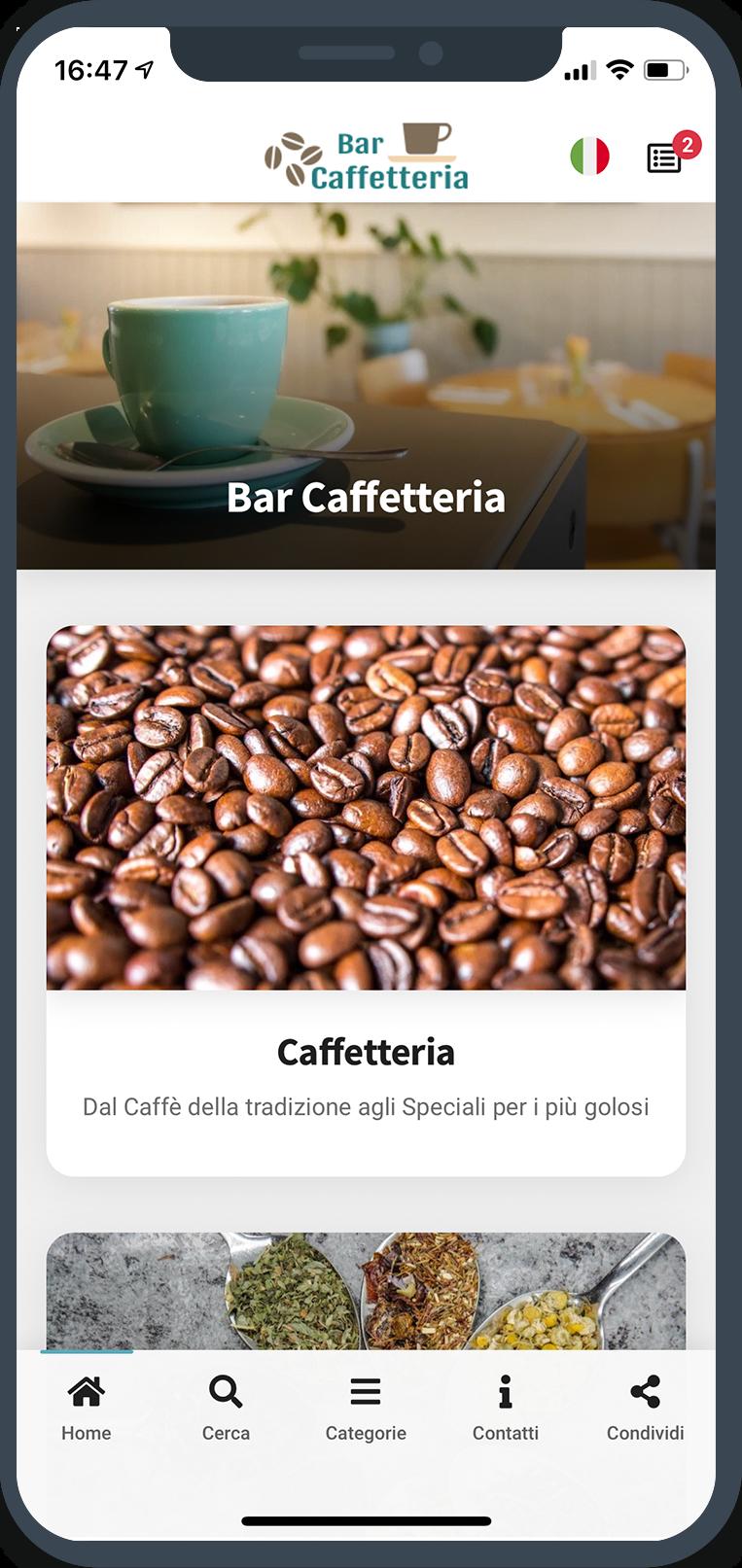 Menu Digitale Bar Caffetteria