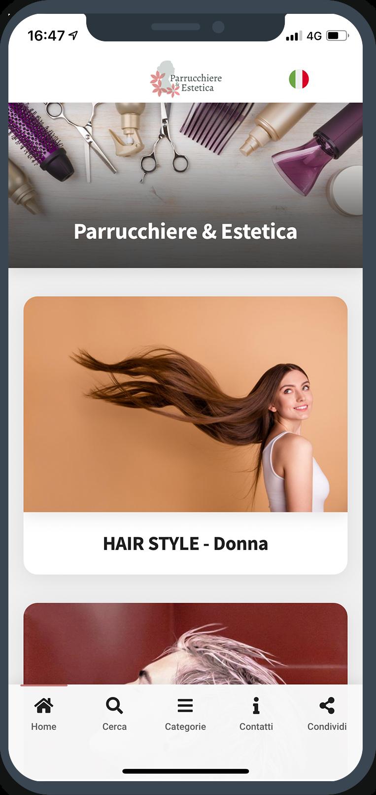 Menu Digitale Parrucchiere Estetica